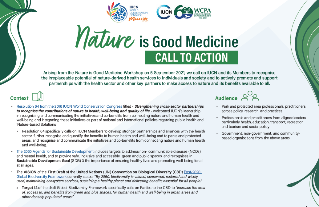 IUCN 2021: A Call to Action